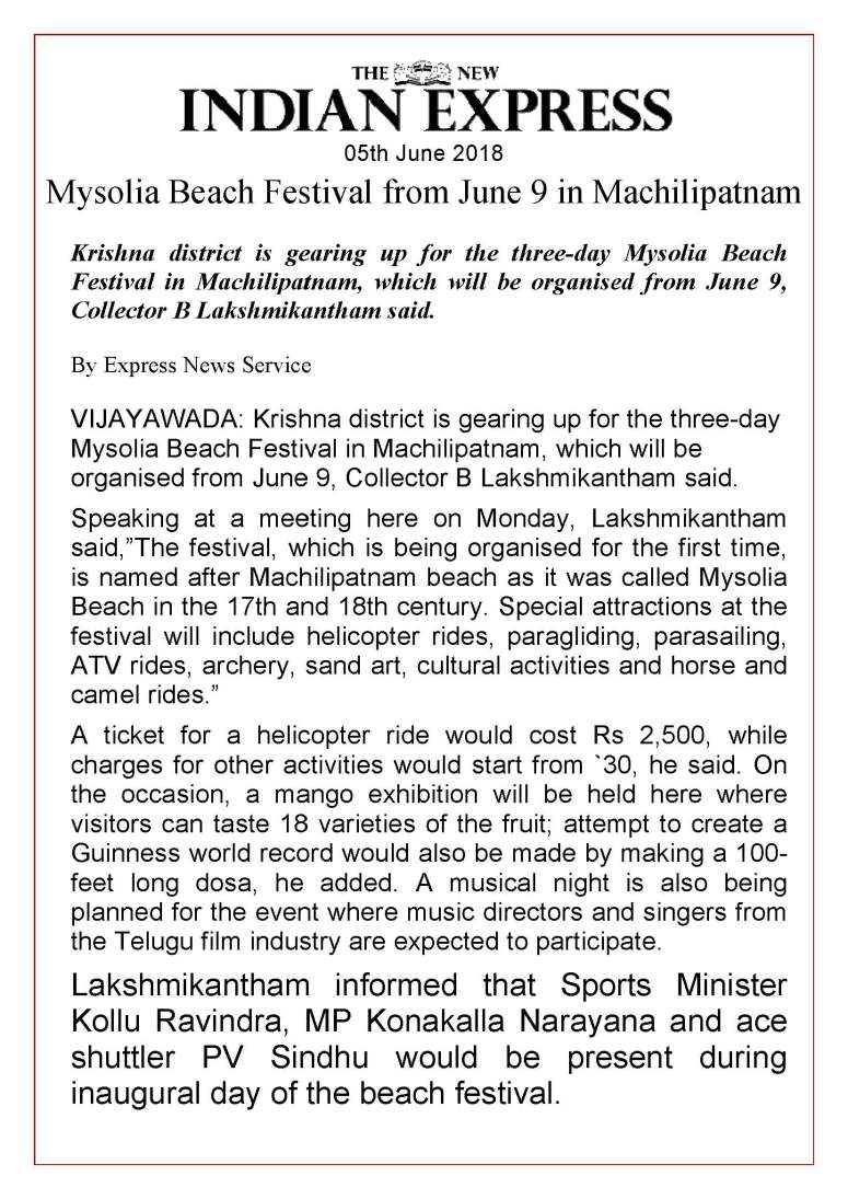 01 Maisolia Masulipatnam Beach Festival 2018 News Clips 05th June-2018_Page_13