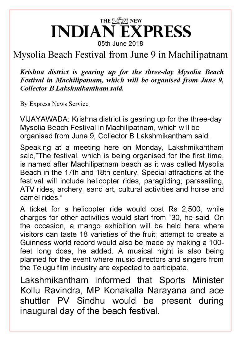01 Maisolia Masulipatnam Beach Festival 2018 News Clips 05th June-2018_Page_13
