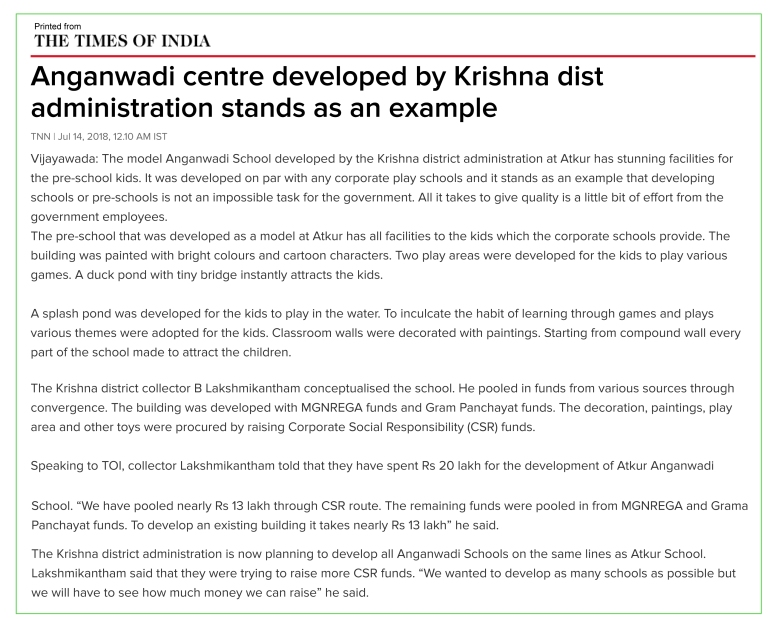 Anganwadi centre developed by Krishna dist administration stands as an example - Times of India.jpg