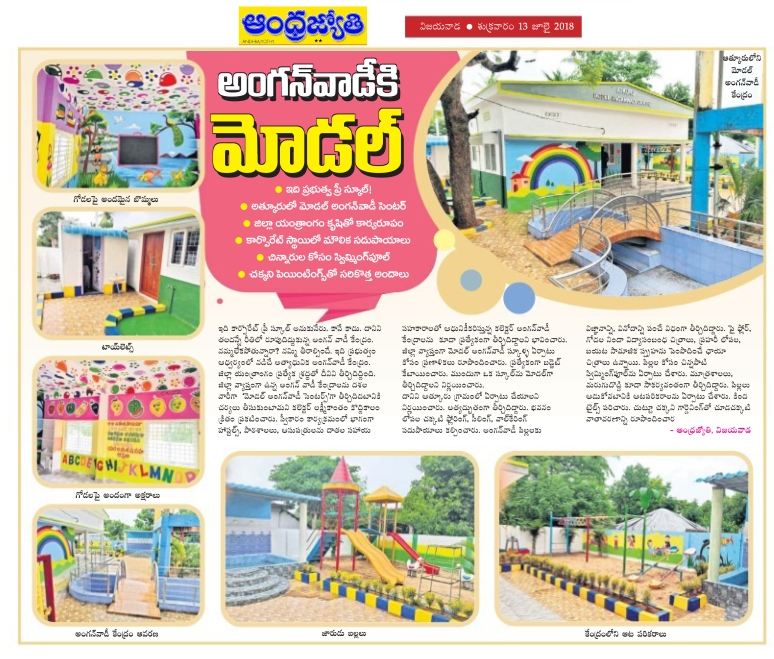 Model AnganWadi Centre - Atkuru News Clip Jyothy 13-07-2018