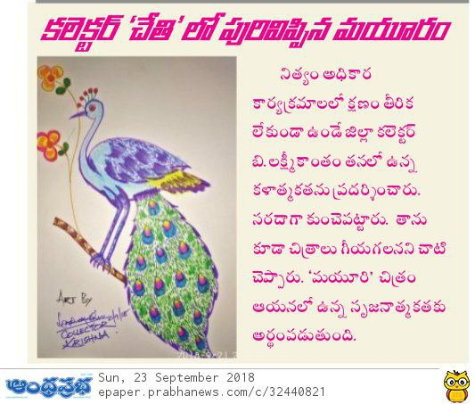 Collector Artist Prabha 23-Sep-2018