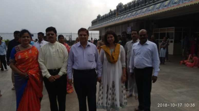 CS & Collector Family Visit to Durga Temple Photos 02