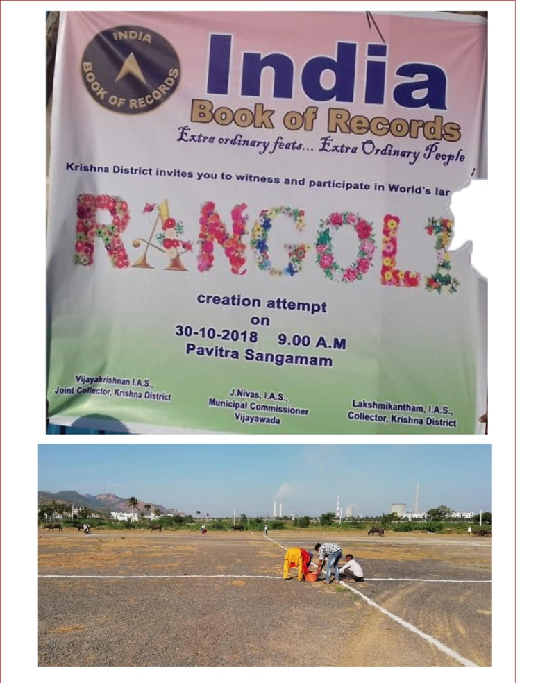 India Book of Records - Gigantic India Map Rangoli Feat News Clips 31-Oct-2018-24