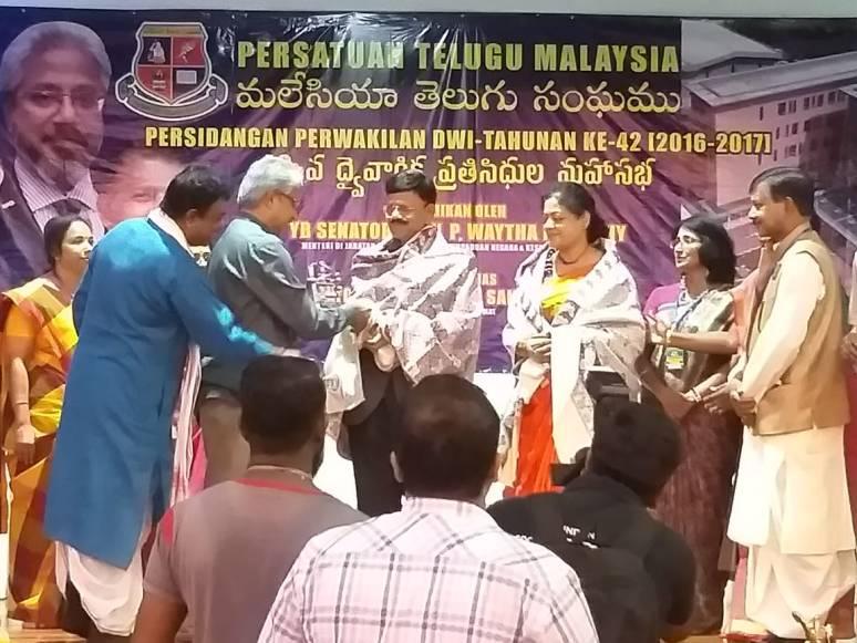 Malaysia Telugu Sangham Felicitated Collector B Lakshmikantham Photos 02