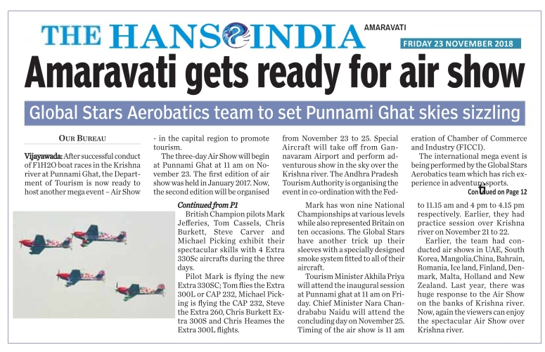 Air Show The Hans India 23-11-2018