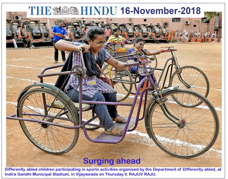 Differently Abled Children Sports The Hindu 16-11-2018.jpg