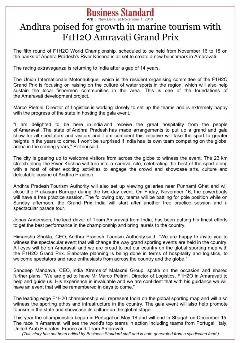 F1H2O Amravati Grand Prix - Business Standard 01-Nov-2018.jpg