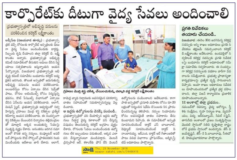 Govt Hospital Review Meeting Sakshi 29-11-2018