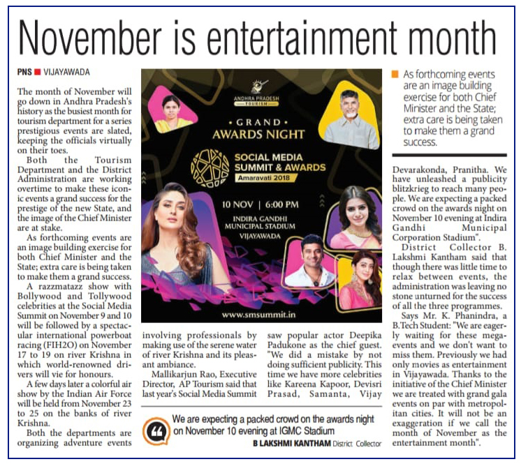 November Entertainment Month English Clip