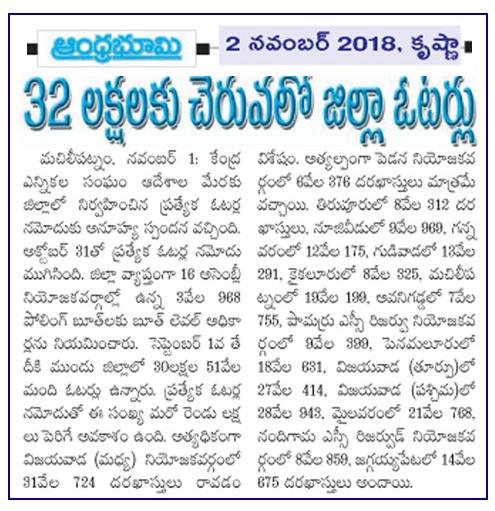 Voters Awareness Bhoomi 02-11-2018