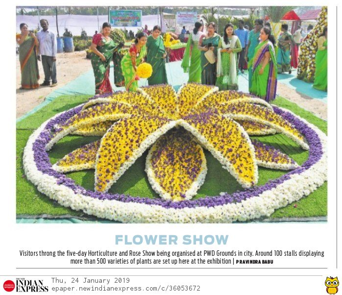 flowers plants exhibition express 24-01-2019