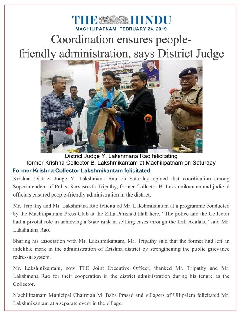 Microsoft Word - Felicitation at Machilipatnam by Dist Judge The