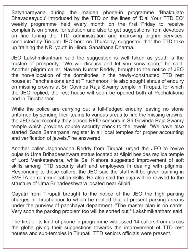TTD contemplates Subhapradam overseas-The Hans India Tirupati 15-March-2019-2.jpg